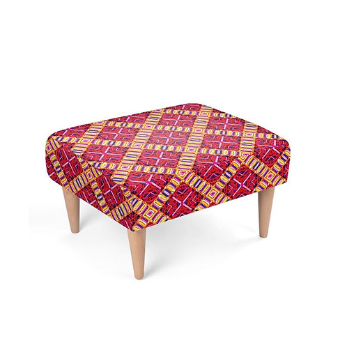 Lolita Lorenzo CURITIBA (PM) luxury faux suede foot stool front view