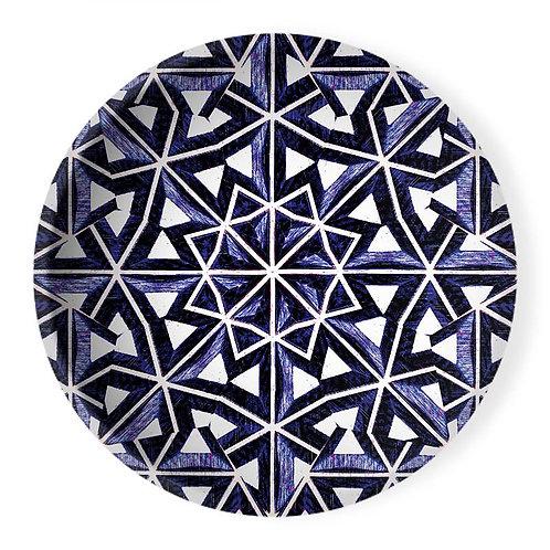 Lolita Lorenzo BAHIA (LZ) extra large decorative ceramic bowl center piece top view