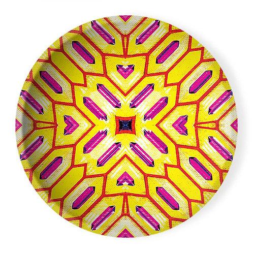 Lolita Lorenzo PALMARES (LD) extra large decorative ceramic bowl center piece top view