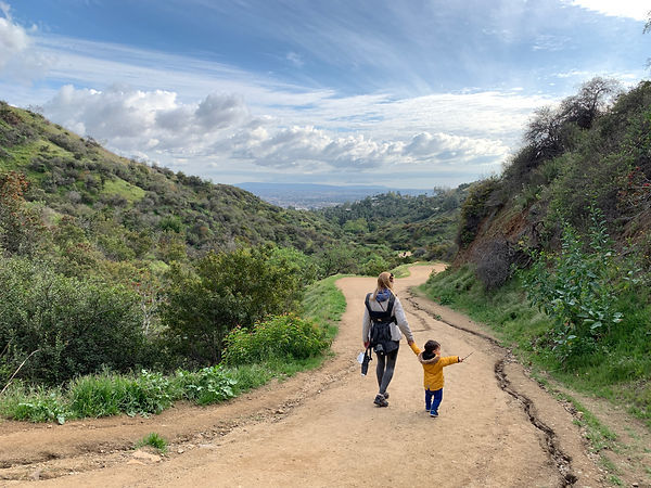 Alana and son Noah in Griffith Park, LA