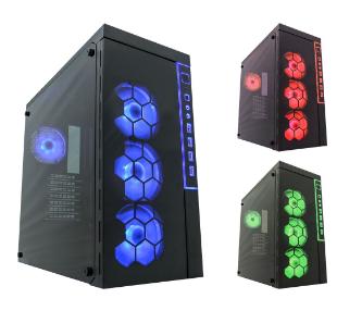 Midi-Tower, ATX Gaming Pc Case 991B, Lighthouse, nero, senza alimentatore