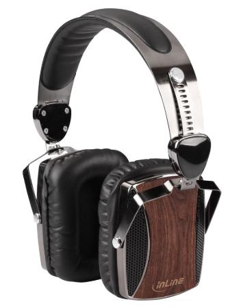 woodon-ear Cuffie con microfono su cavo, Jack 3.5mm 4pin, confort, legno noce, H