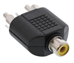 Adattatore Audio RCA femmina a 2x RCA maschio, sdoppiatore, Y form