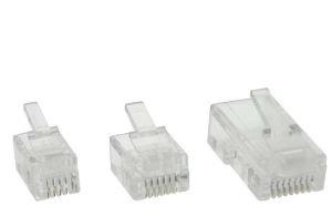 Plug Modulare, telefonico, ISDN a crimpare su cavo piatto, RJ12 (6P6C), 100pz