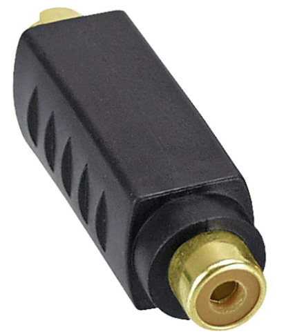 Adattatore S-VHS 4pinl Mini Din maschio a 1x RCA Video Composite femmina, dorato