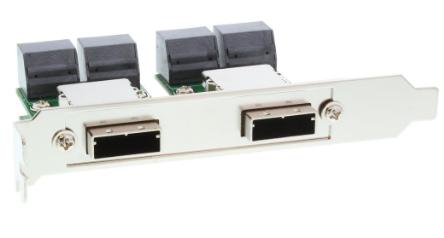 Adattatore SAS Dual su staffa PCI/Slot Centr. 50pin da 2x 26-pin Mini SAS (SFF-8