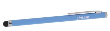 Stylus, pennino touch capacitivo, punta gomma 6mm, alluminio, blu