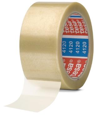 tesa® 4120, PVC, Nastro da imballaggio in PVC, 66m x 50mm, trasparente