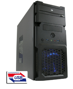 PC Case Micro Tower ATX LC-Power 2001MB, USB 3.0, Inc. Alimentatore 420W LC420H-