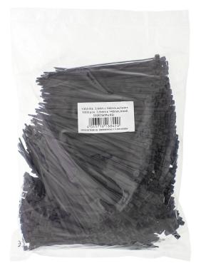 Fascette stringicavo 140x3,6mm, nera. Confezione da 1000 pezzi (Bulk)