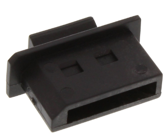 Antipolvere DisplayPort femmina, nero, 50pz, tappi chiusura e protezione prese