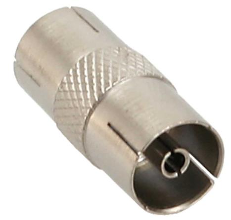 Adattatore antenna coassiale IEC maschio - femmina, metallo, 10pz