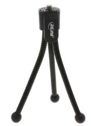 Treppiedi Mini125mm, gambe flessibili, nero