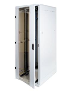 """Rack 19"""" da pavimento, 800x1000, 15U, IP20, porta in vetro, grigio chiaro (Trito"""