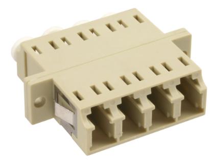 Bussola LC/LC Quad fibra multimodale, manicotto ceramico, adattatore con viti e