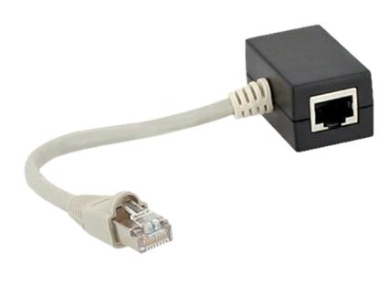 Accoppiatore ISDN da ingresso RJ45 maschio su cavo a 2 uscite RJ45 femmina con r