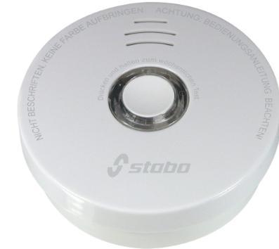 Rilevatore di fumo stabo 51116, a lunga durata, a batteria, bianco