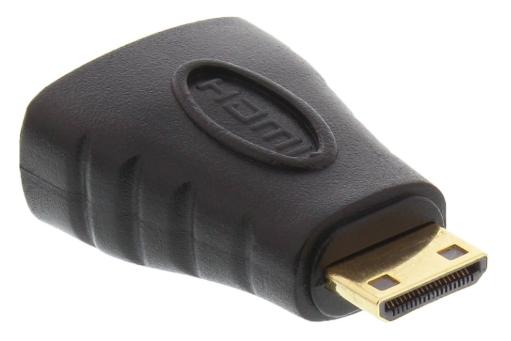 Adattatore HDMI Typ A femmina a Mini HDMI Typ C maschio, dorato, 4K2K Compatibi