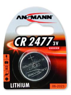 Batteria Bottone Litio, CR 2477, 3V, Blister 1pz (Ansmann 1516-0010)