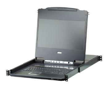 """Aten CL6708MW, LCD 17"""" KVM Switch, 8 porte, DVI USB, Full HD (US-Layout - IT a r"""