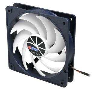Ventola PC Case, 120x120x25mm, 12V, 3pin, KUKRI-Serie,