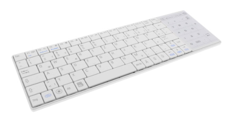 Bluetooth Mini-Keyboard, Touchpad, Tastiera Layout TEDESCO, bianco, Win10