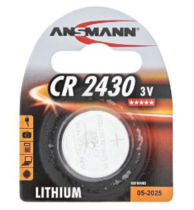 Batteria Bottone Litio, CR2430, 3V, Blister 1pz (Ansmann 5020092)