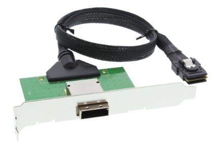 Adattatore SAS su staffa PCI da 26-pin Mini SAS (SFF-8088) esterno a 36-pin Mini
