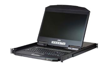 """KVM a 16 porte, PS / 2-USB VGA Single Rail LCD KVM da 18,5 """"con profondità ridot"""