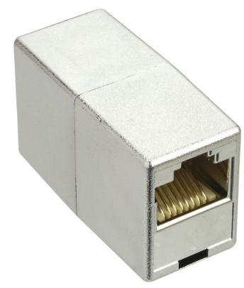Adatatore RJ45 femmina/femmina Cat.5e schermato, metalizzato, accoppiatore giunz