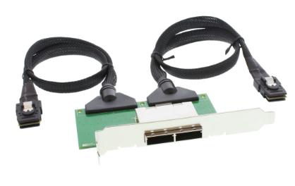 Adattatore SAS Dual su staffa PCI da 2x 26-pin Mini SAS (SFF-8088) esterno a 2x