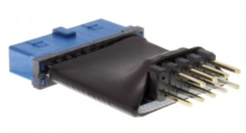 Adattatore USB 3.0 19pin femmina / USB 2.0 10pin maschio, interno, su cavo