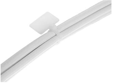 Fascette stringicavo identificazione 100x2,5mm con targhetta 13x20mm, neutra, 10