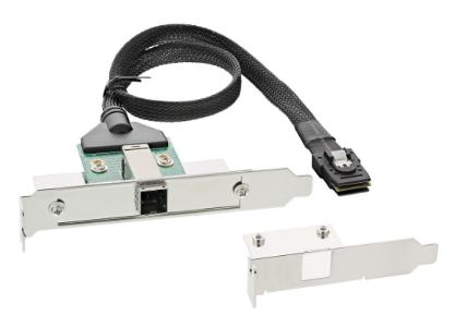 Adattatore SAS HD su staffa PCI con foro Centronics50p con cavo, SFF-8644 (ester