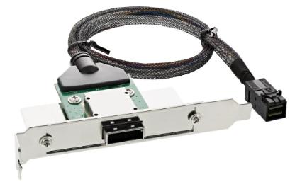 Adattatore SAS HD su staffa PCI con foro Centronics50p con cavo, SFF-8088 (ester