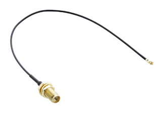 Adattatore antenna WLAN su cavo, presa R-SMA femmina a spina U.FL maschio, 0,2m