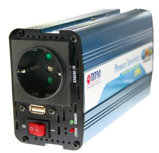 Inverter universale per Auto, Camper, In 12V/DC, Out 230V/AC, 150W, USB 5V, Tita