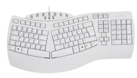 Tastiera Layout TEDESCO ergonomica, USB, Perixx PERIBOARD-512