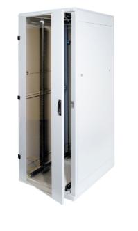 "Armadio Rack 19"" da pavimento, 45U, 800x1000, 1200Kg, porta in vetro, grigio chi"