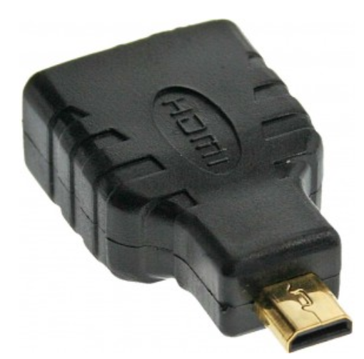 Adattatore HDMI Typ A femmina a Micro HDMI Typ D maschio, dorato, 4K2K Compatibi