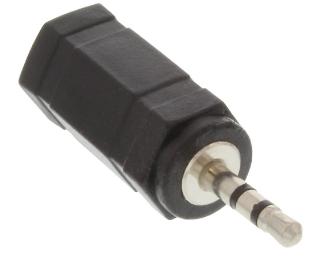 Adattatore Audio, 2,5mm Jack maschio a 3,5mm femmina, Stereo, accoppiatore