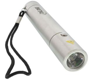 Batteria USB Power Bank, 3000mAh integrata in una torcia LED, per Smartphone