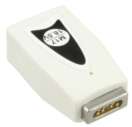 Plug secondari M17 da 18,5V per Apple MacBook e simili, magnetico, bianco