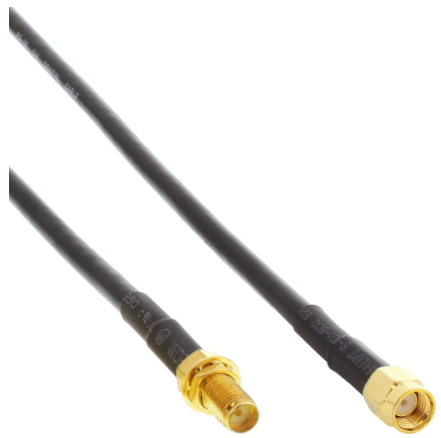 Cavo Antenne Wireless Lan ( WLAN), R-SMA maschio a R-SMA frizionato, 20m