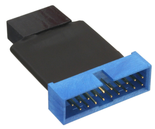Adattatore USB 3.0 19pin maschio / USB 2.0 IDC 10pin femmina, interno