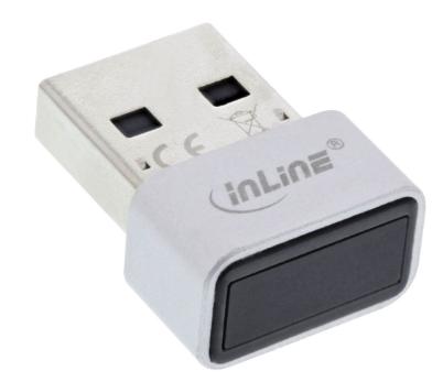 Scanner per impronte digitali InLine® USB, compatibile con Windows Hello