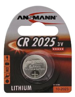 Batteria Bottone Litio, CR2025, 3V, Blister 1pz (Ansmann 5020142)