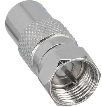 Adattatore SAT da spina F-Type a spina IEC (antenna), in metallo