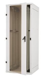 "Rack 19"" da pavimento smontabile, 800x1000, 42U, IP20, porta perforata, grigio c"