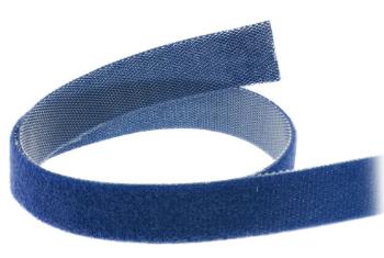 Banda in velcro tagliabile a misura, rotolo da 10m, larghezza 16mm, blu